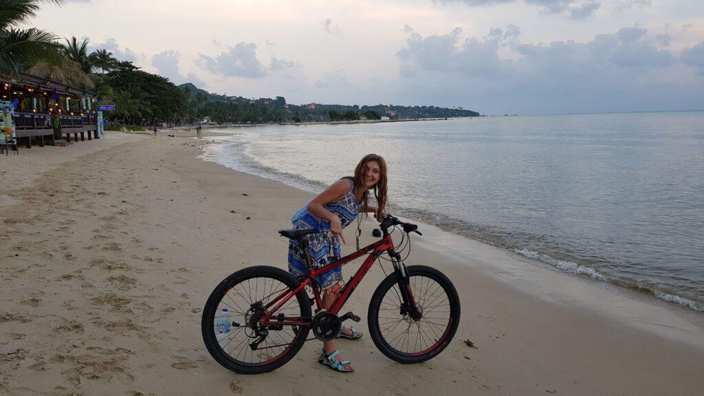 Rower na plaży