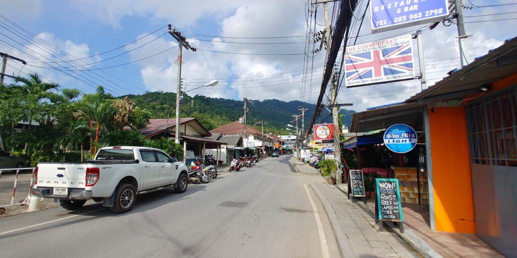 Droga asfaltowa na wyspie koh samui