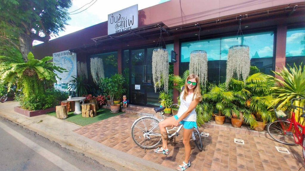 Bang Krachao kawiarnia rower