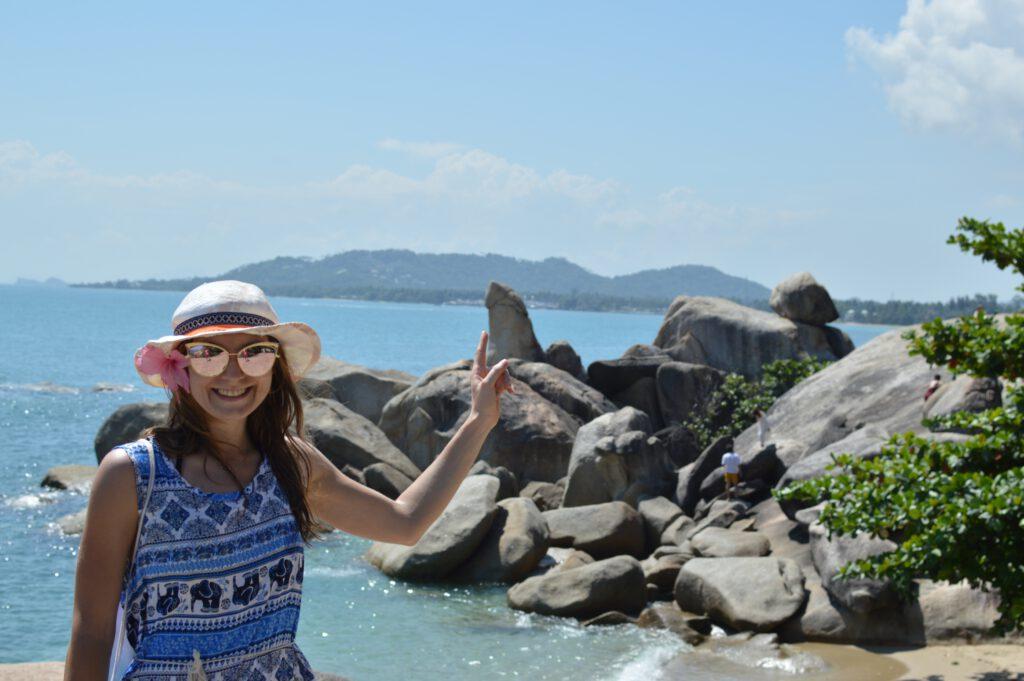 Koh samui dziewczyna na plaży