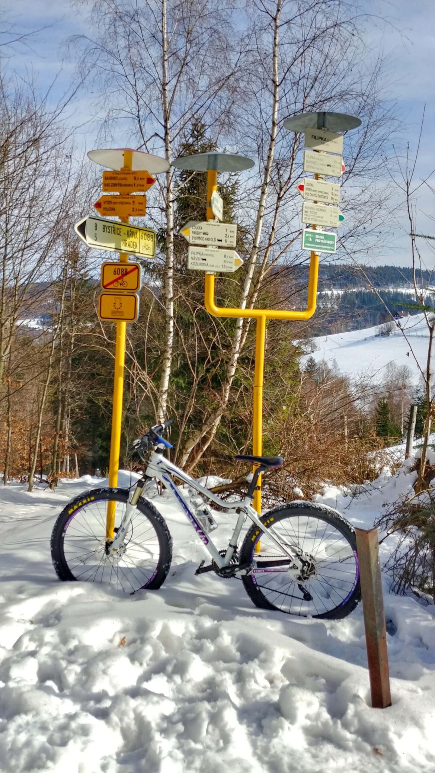 oznakowanie szlaków w górach, opart rower