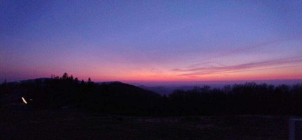 zachód słońca z Równicy