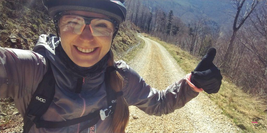 selfie na rowerze