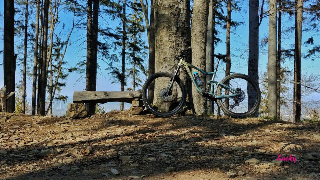 Rower oparty o ławkę