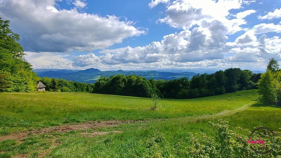 widok na panoramę górską