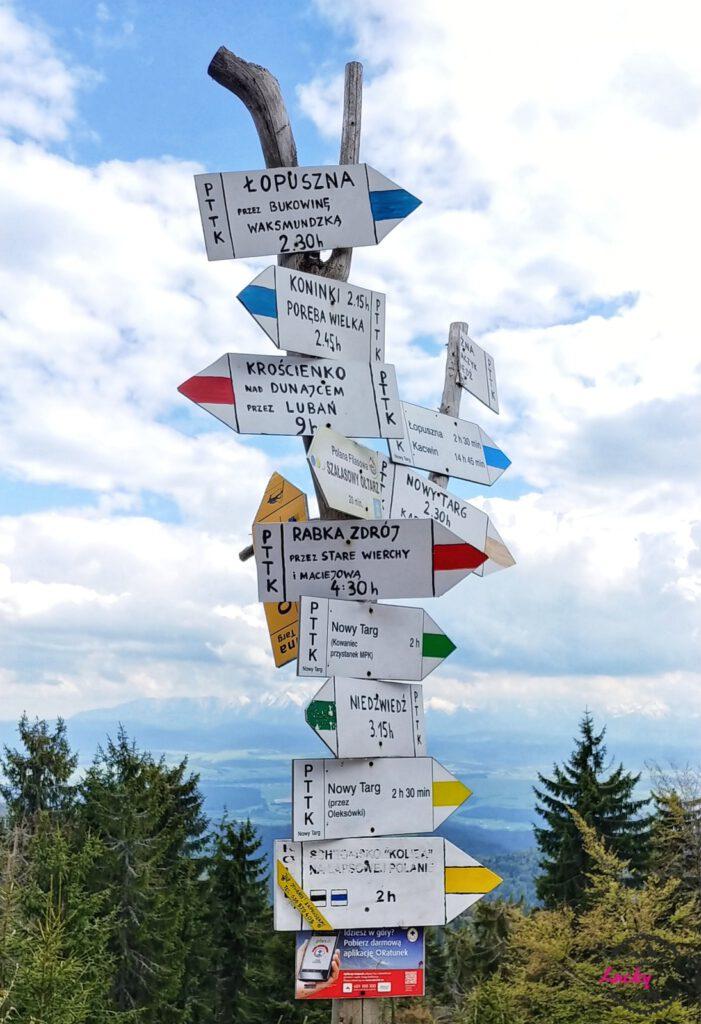 oznaczenie szlaków w Gorcach